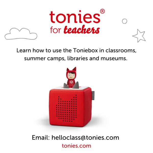 image of tonies for teachers.