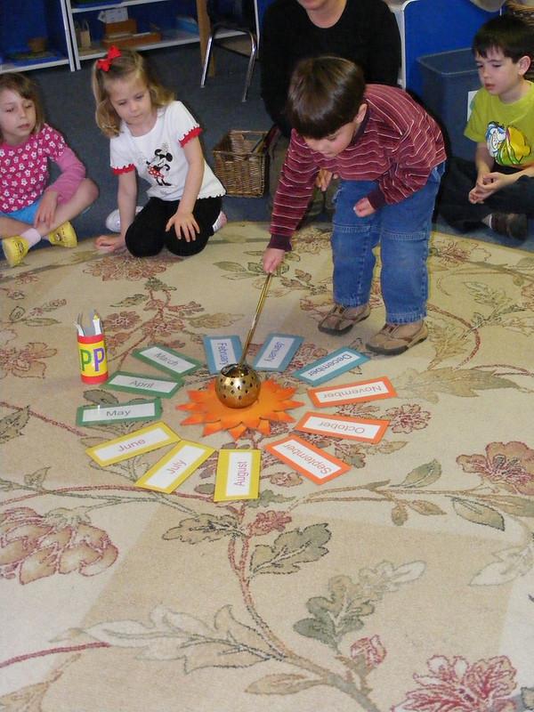 image of montessori birthday celebration.
