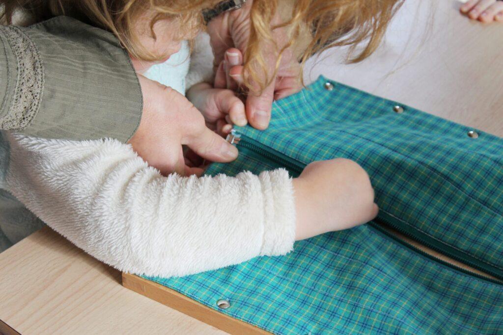 image of the benefits of montessori, practical life skills.