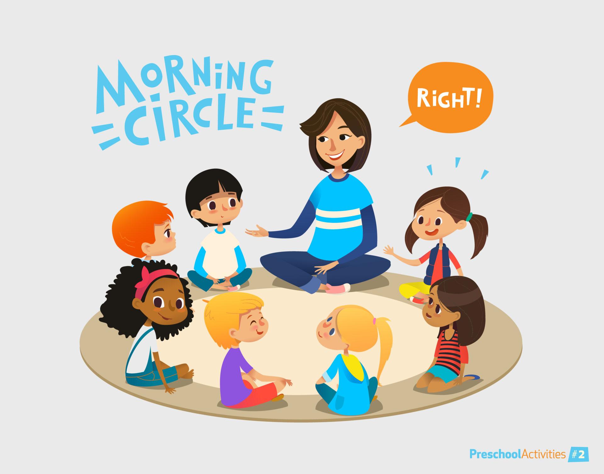 image of Montessori morning circle.