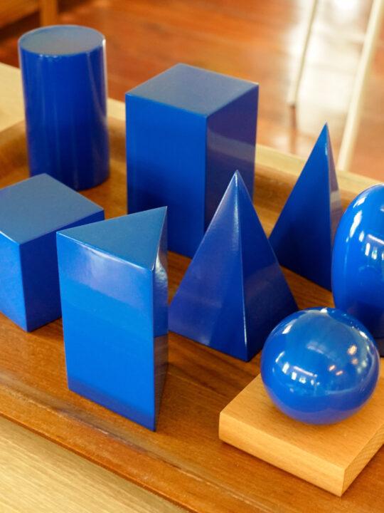 image of the Montessori geometric solids.