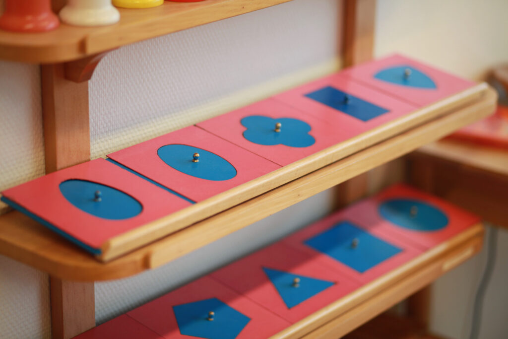 image of the Montessori metal insets.