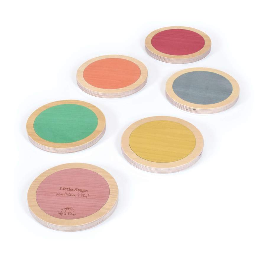image of lily and river stepping stones, a montessori gross motor toy.