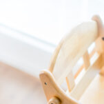 image of wooden Montessori high chair.