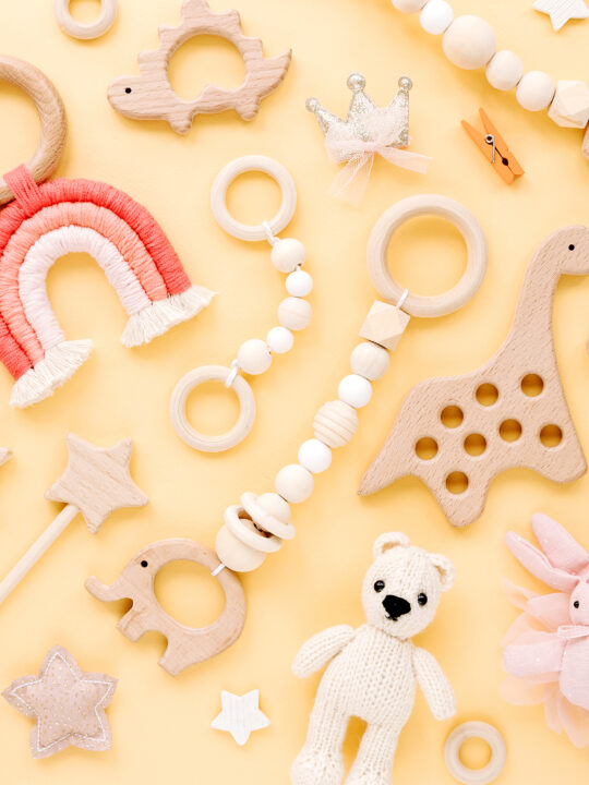image of a variety of montessori toys for 6-month-old.